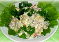 Низкокалорийный салат из индейки