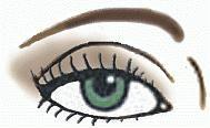 макияж 40-х годов глаза