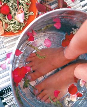 травяные ванны для ног