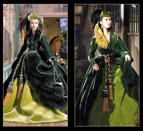 куклы двойники звезд Вивьен Ли