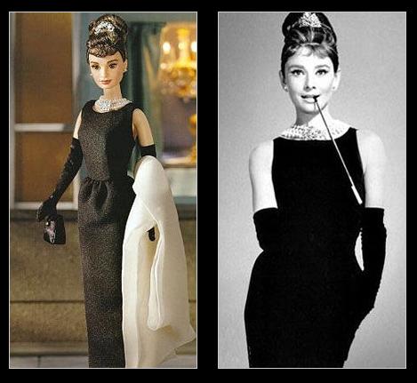 куклы двойники звезд Одри Хепберн