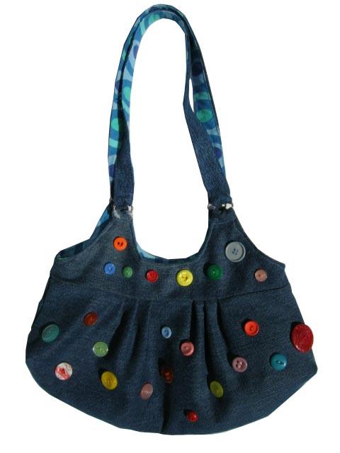 сумка с пуговицами