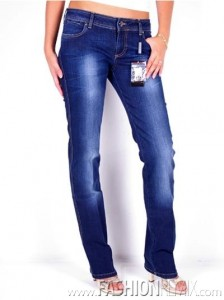 модные джинсы 2010 Armani Jeans For Women- Denim Blue