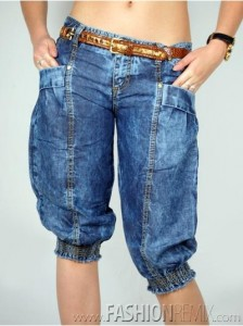 модные джинсы 2010 женские модели Roberto Cavalli Stylish Shorts W/ Belt For Women - Denim Blue
