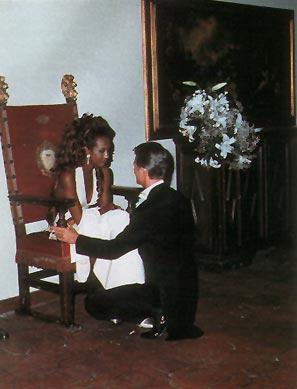 свадьба Девида Боуи и Иман