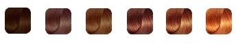 цвет волос цветотипа осень