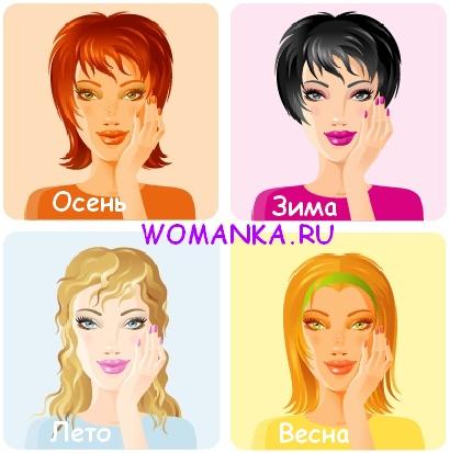 тест на определение цветотипа внешности