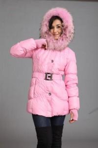 куртка зимняя розовая пантера