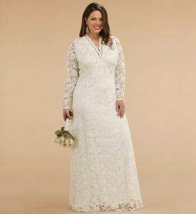свадебные платья для полненьких с рукавами