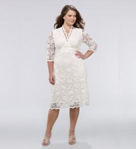 короткое свадебное платье для полных