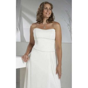 свадебное платье для полных ампир