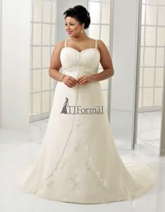 свадебное платье для полных с лямками