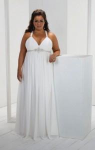 свадебное платье в греческом стиле для полных