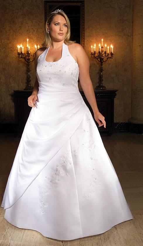 Красивое свадебное платье для полной