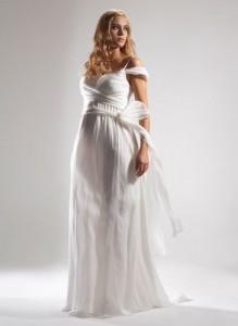 свадебное платье для полненьких в греческом стиле