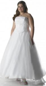 свадбеное платье ампир для полных