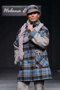 Клетчатое пальто 2011 зима