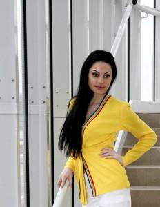 желтый женский кардиган 2011