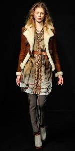 женские модные дубленки 2011
