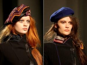 береты модные шапки зима 2010 2011