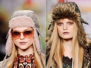 шапки-ушанки модные шапки зима 2010 2011