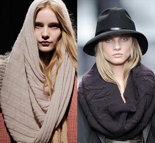 Вязание шарфа хомута схема