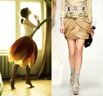 Девушка И Вместо Юбки Тюльпан