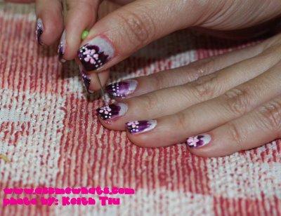 рисунки на ногтях иголокой фото урок. рисунки на ногтях иголкой.