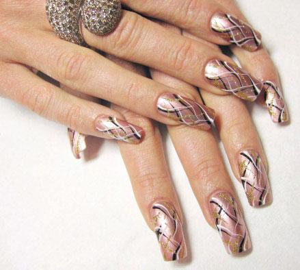 Рисунки на ногтях иголкой фото