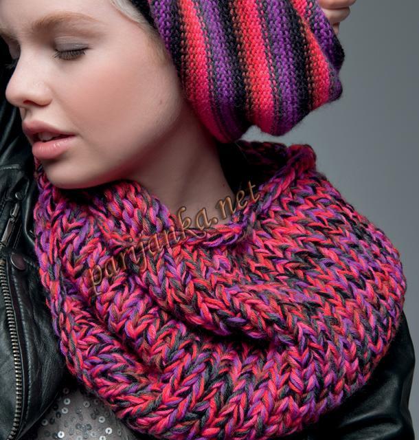 Только лучшие схемы вязания крючком и спицами.  На этот раз мы узнаем с вами, как вязать шарф снуд.
