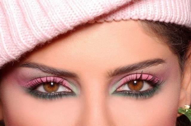 карие глаза макияж