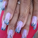 акриловые краски рисунки на ногтях