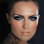 макияж брюнетки с зелеными глазами