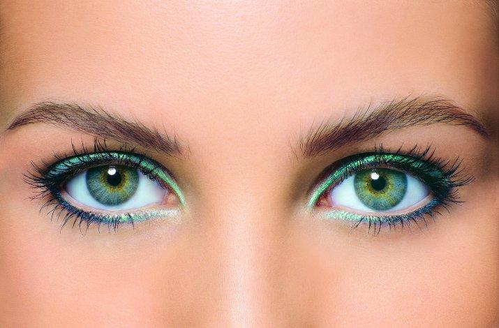 макияж для глаз зеленых