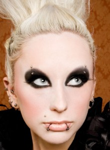 готичный макияж вампирши фото
