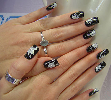 рисунки  на ногтях  маникюр