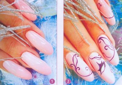 новогодние рисунки на ногтях как сделать фото 1