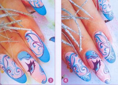 новогодние рисунки на ногтях как сделать фото 2
