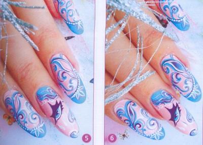 новогодние рисунки на ногтях как сделать фото 3