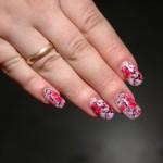 акриловая роспись на ногтях