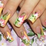 красивые рисунки на ногтях акриловыми красками
