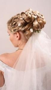 длинная фата свадебные прически