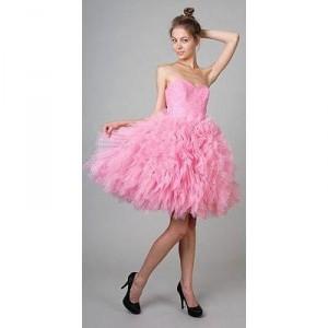 розовый наряд на выпускной 2011