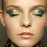 зеленый макияж для брюнетки
