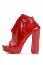 красные модные ботильоны 2011 фото