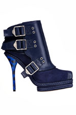 модные синие  ботильоны весна-лето 2011