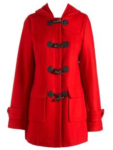 красный женский дафлкот
