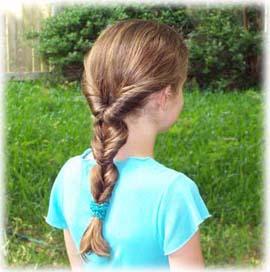 изящная коса прическа для девочки