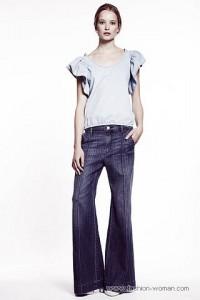 модные женские джинсы 2011 клешные