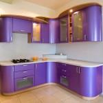 сиреневая угловая кухня мдф фото